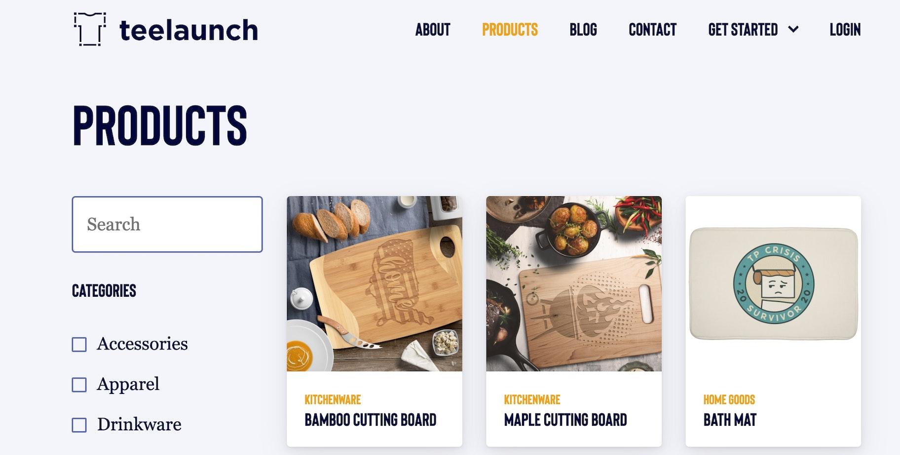 companies like Printful: Teelaunch