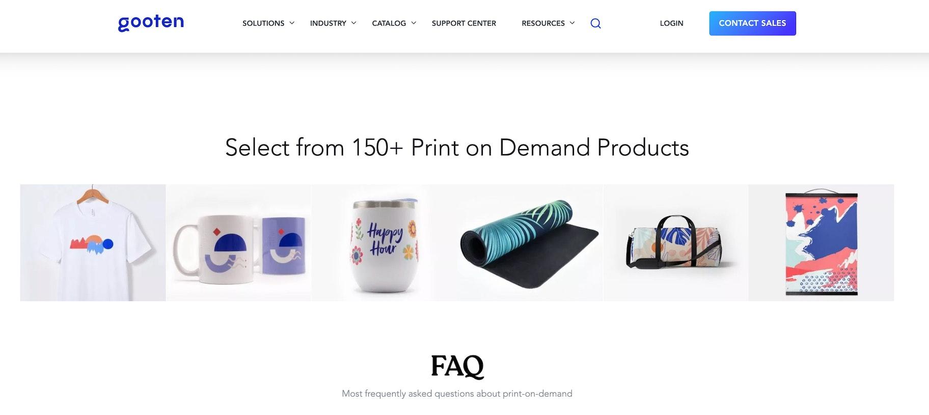 Shopify print on demand: Gooten