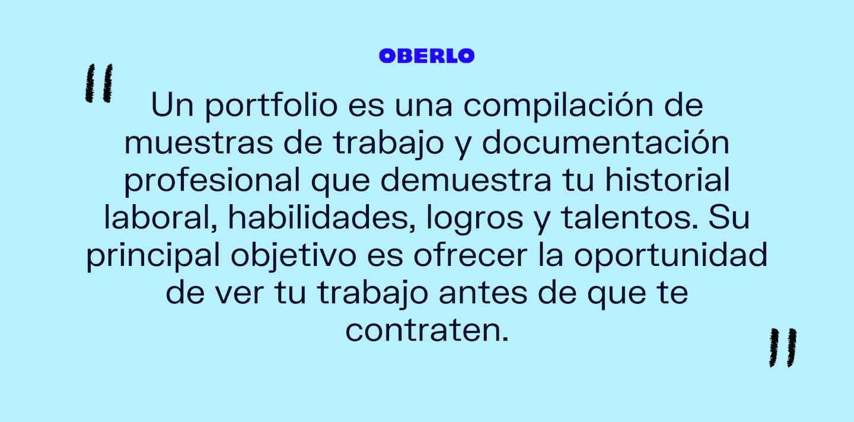 Qué es portfolio: definición