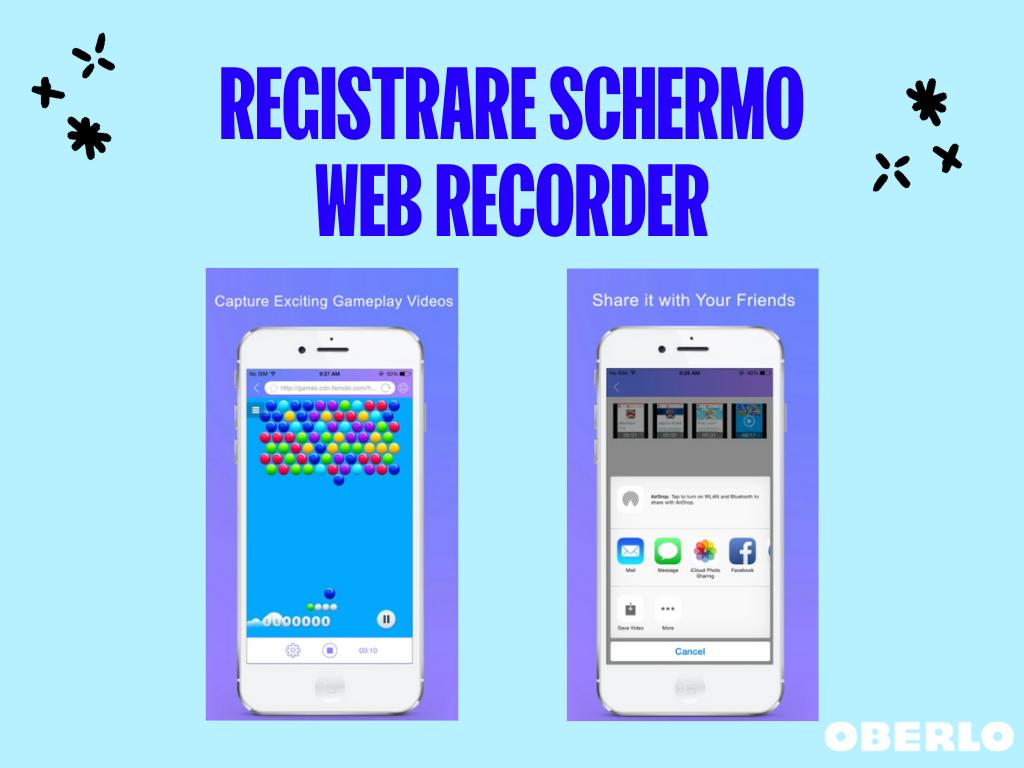 registrare schermo web recorder