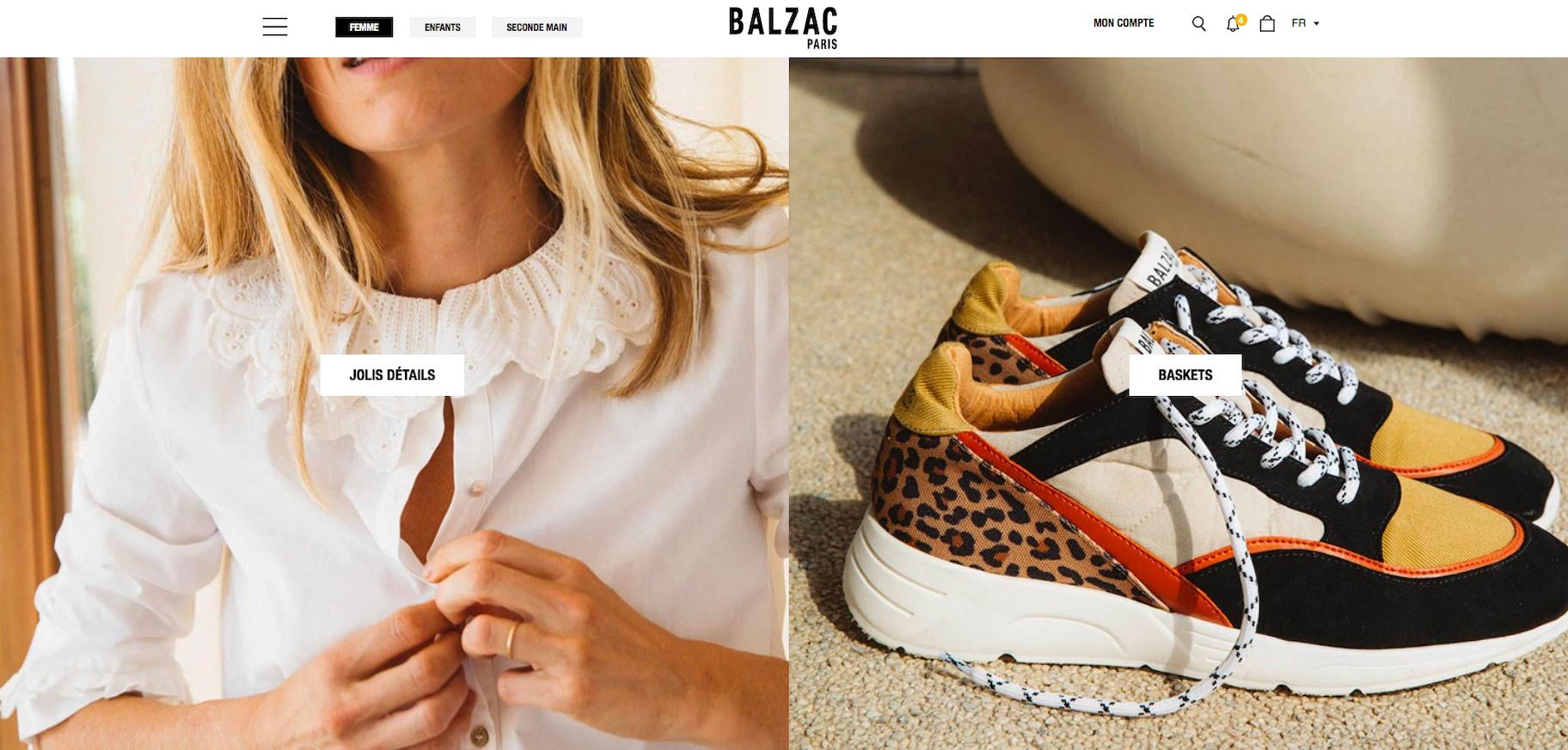 Boutique Shopify marque vêtements Balzac