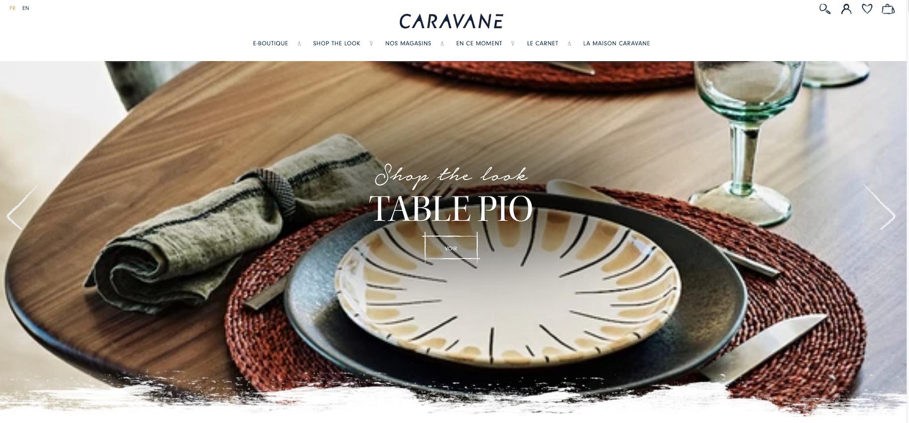 Boutique Shopify marque Caravane