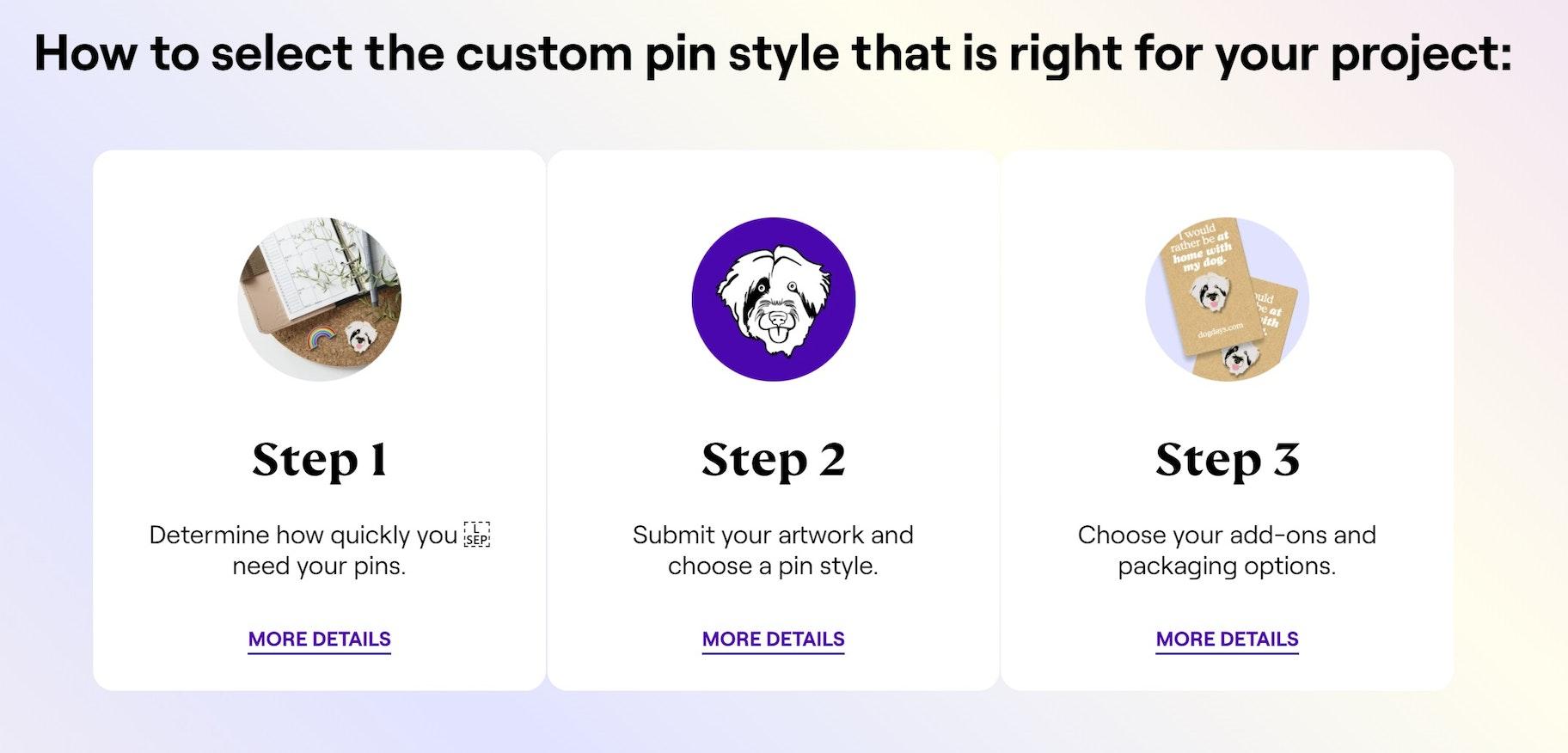 enamel pin manufacturing steps