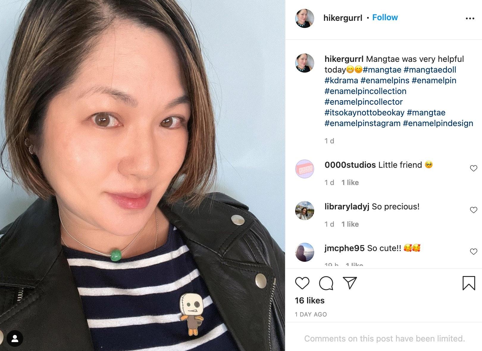 marketing enamel pins on Instagram
