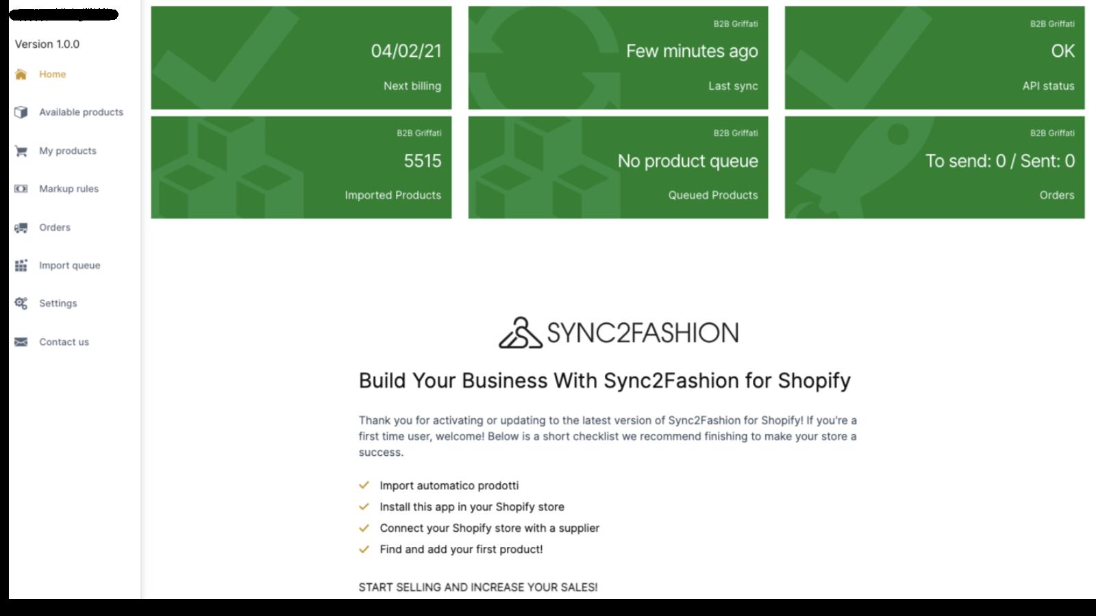 sync2fashion fornitore abbigliamento dropshipping