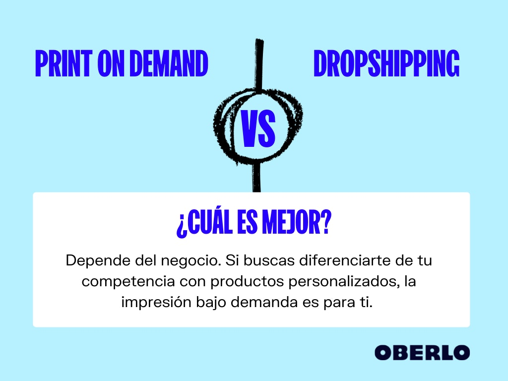 print on demand vs dropshipping