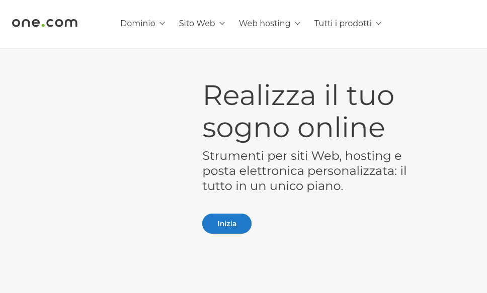 one.com per siti web