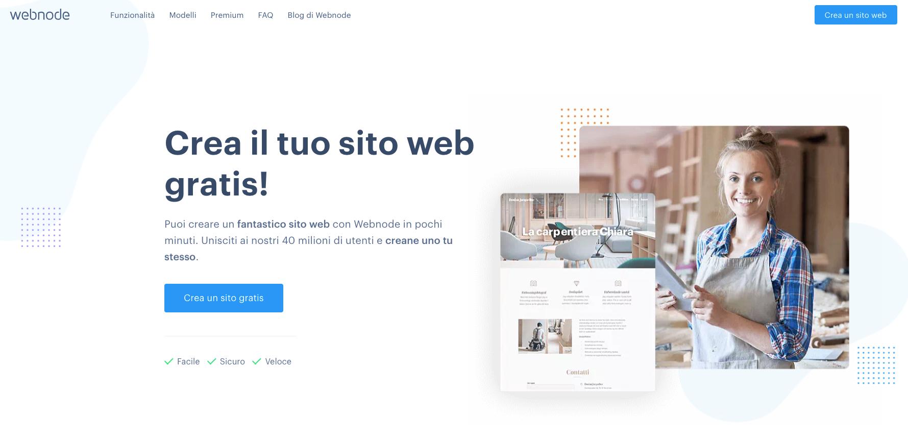 crea sito web con webnode