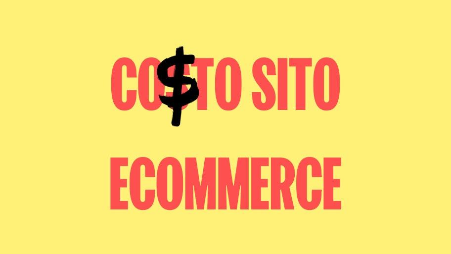 Costo sito ecommerce